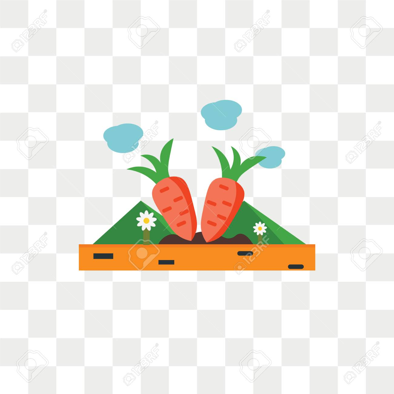 Carrots Vector Icon Isolated On Transparent Background Carrots