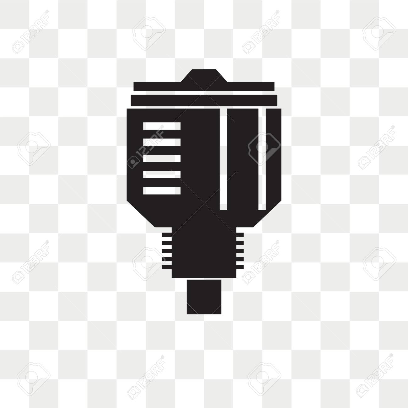 Car Parts Vector Icon Isolated On Transparent Background Car