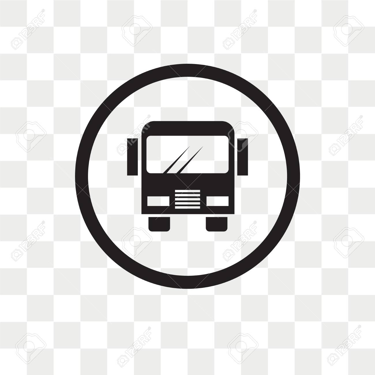 Scholar bus stop vector icon isolated on transparent background,