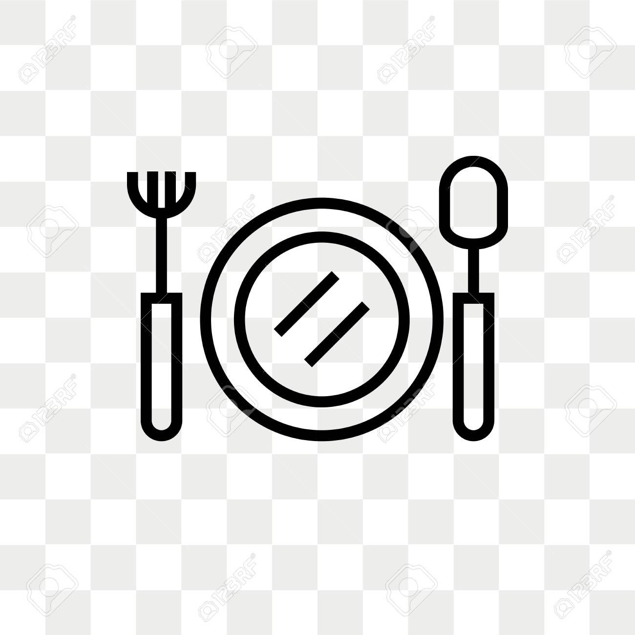 Food vector icon isolated on transparent background, Food logo