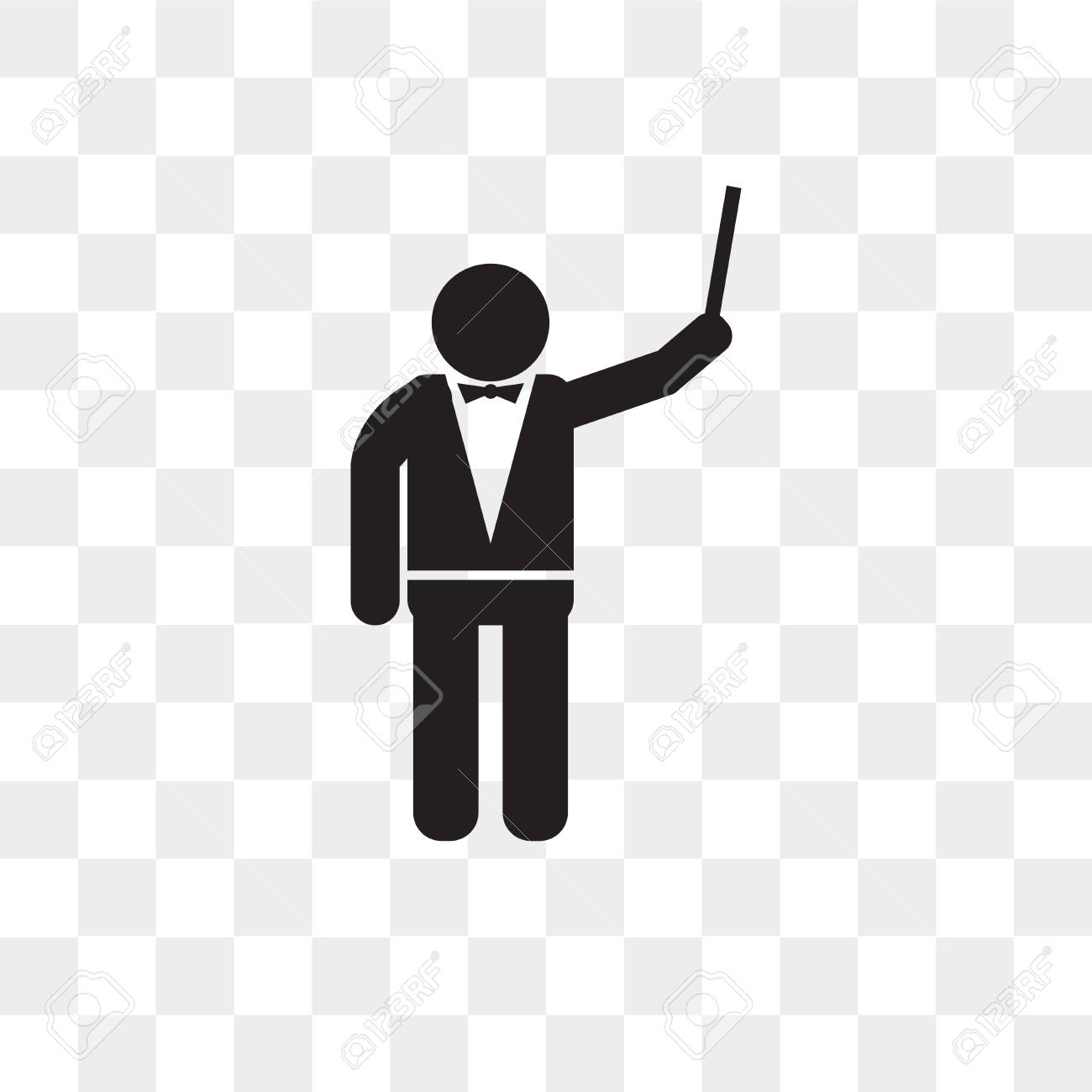 Orchestra director vector icon isolated on transparent background, Orchestra director logo concept - 108633618