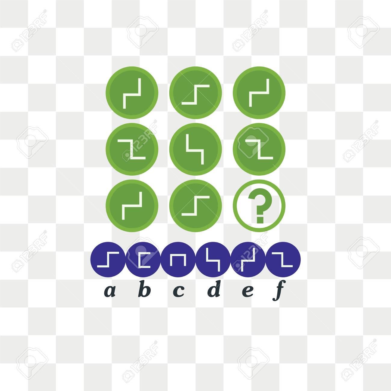 IQ test  Choose correct answer  Logical task, educational game