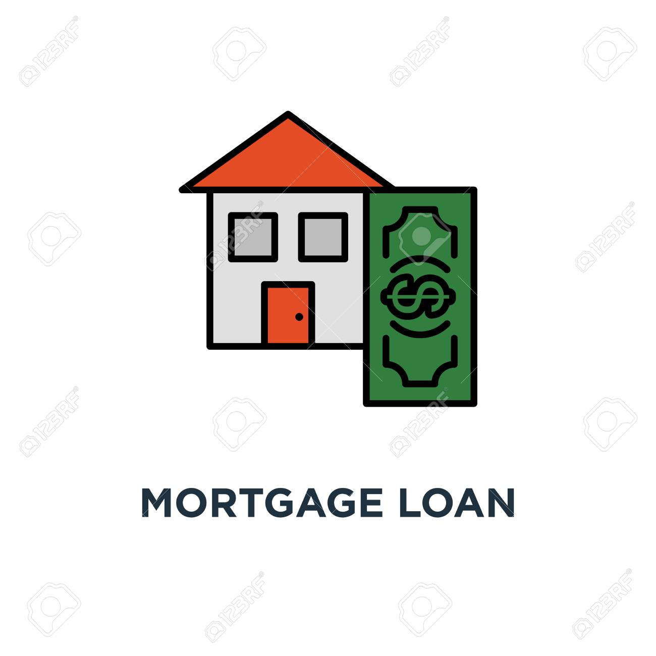 Down Payment Calculator >> Mortgage Loan Calculator Icon Down Payment Concept Symbol Design