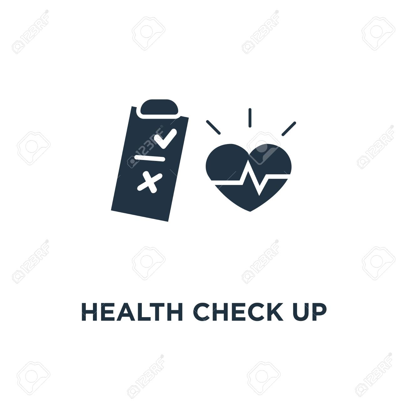 health check up checklist icon  cardiovascular disease prevention