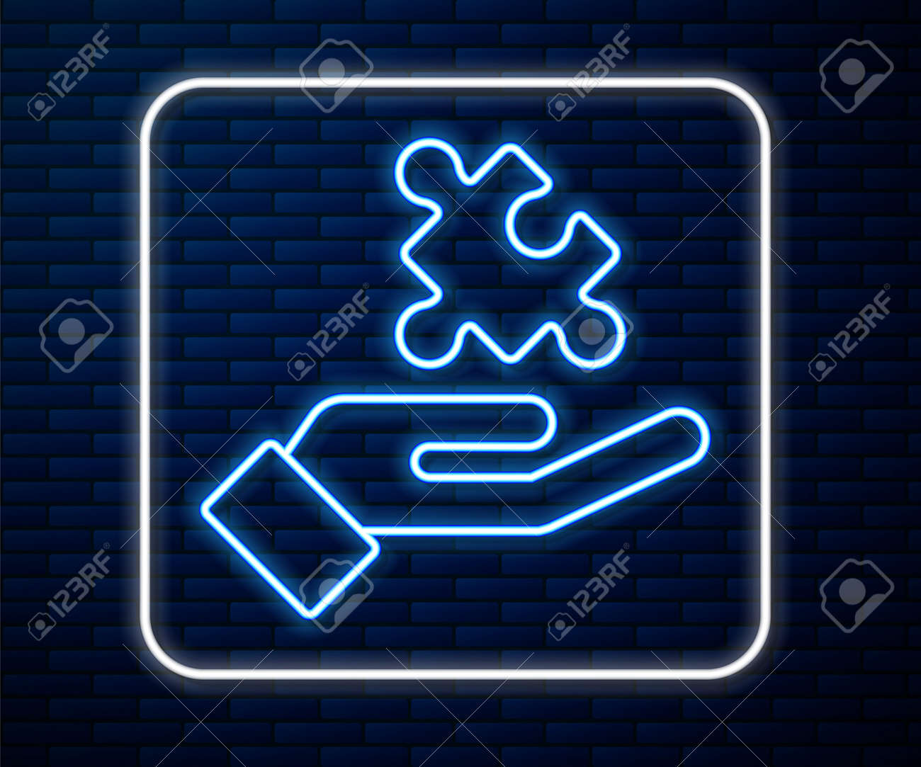 Glowing Neon Line Solution To The Problem In Psychology Icon Royalty Free Cliparts Vectors And Stock Illustration Image 161202341