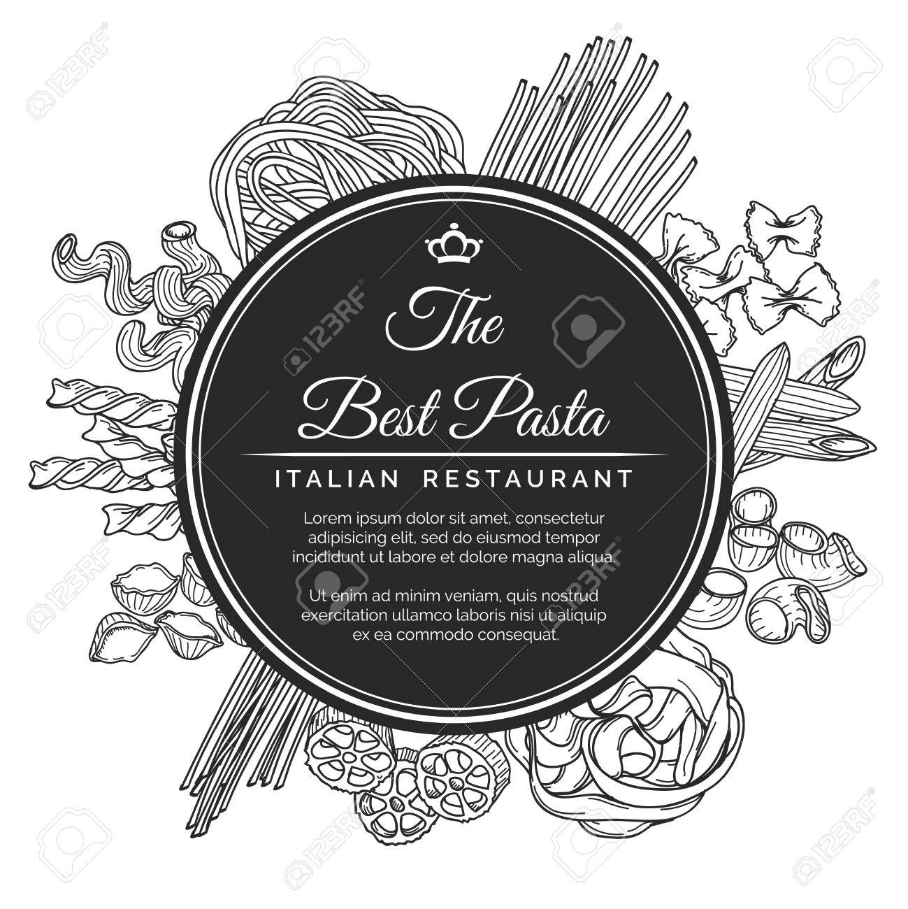 Hand Drawn Italian Pasta Restaurant Poster Best Pasta Restaurant Royalty Free Cliparts Vectors And Stock Illustration Image 53277211