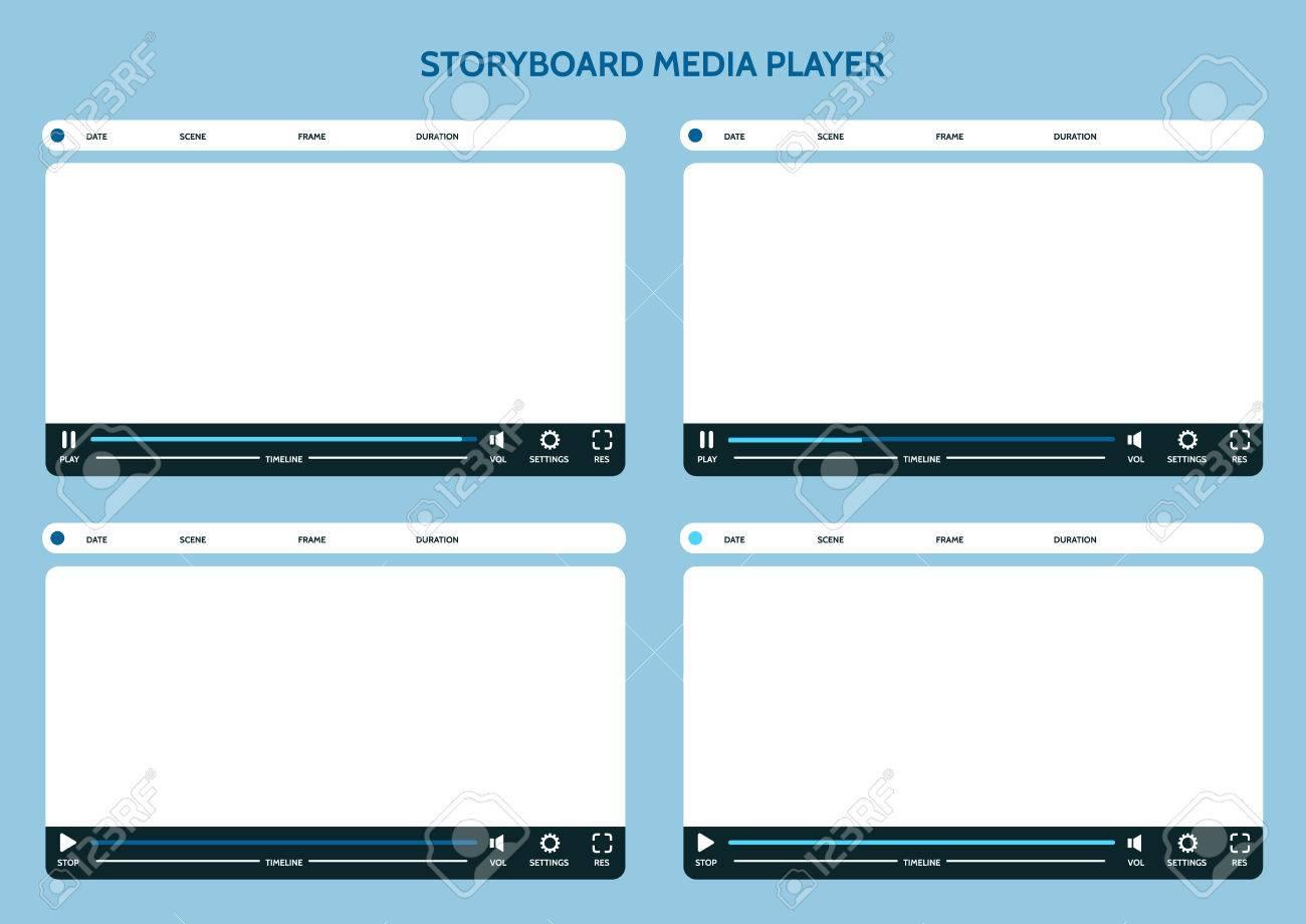 storyboard media player. video storyboard design template royalty, Presentation templates