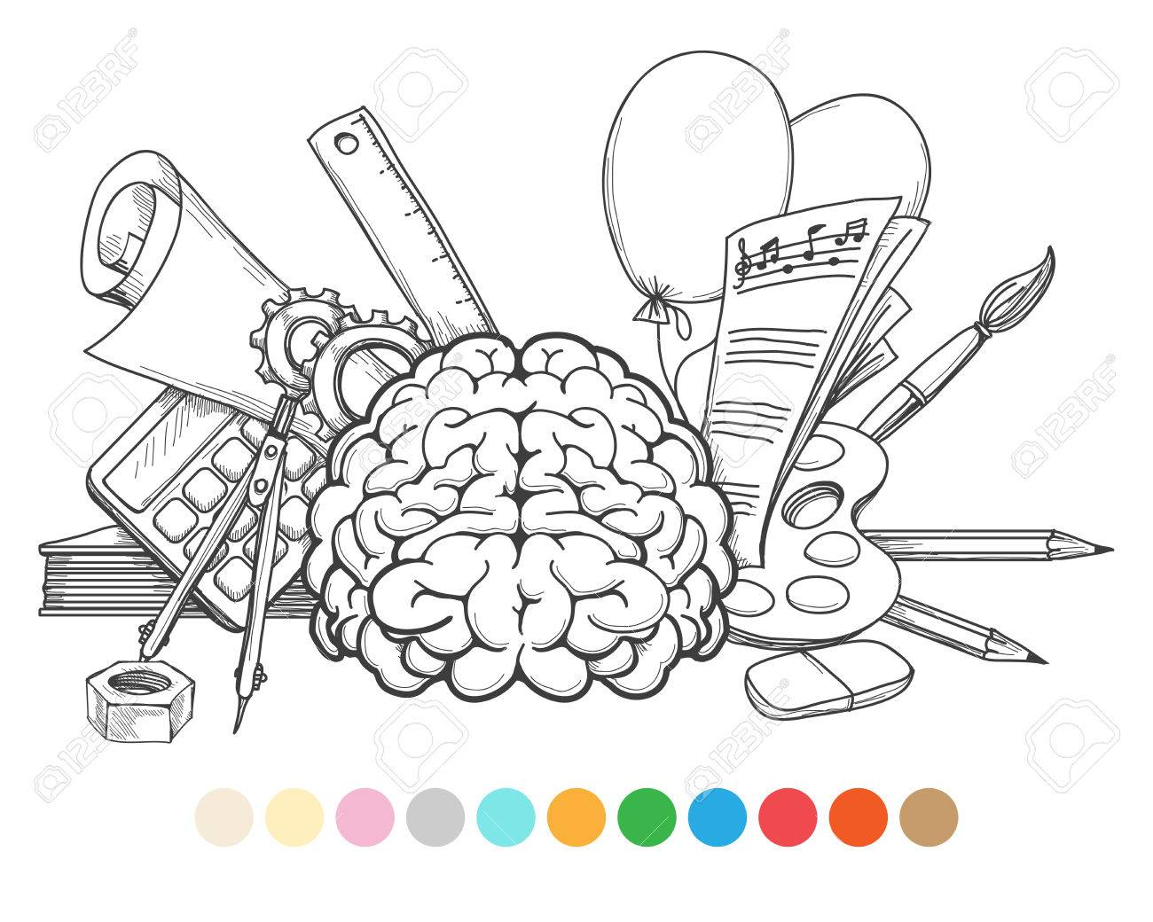 Volver A La Página Para Colorear La Escuela Y Muestras De Color ...