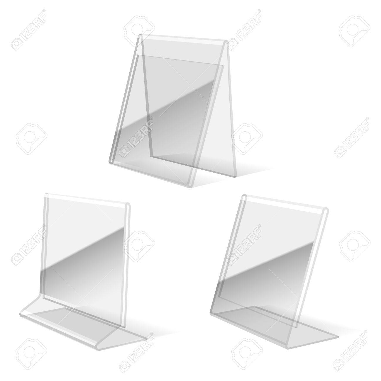 clear plastic holder paper business card stand vector illustration stock vector 61333676 - Business Card Stand