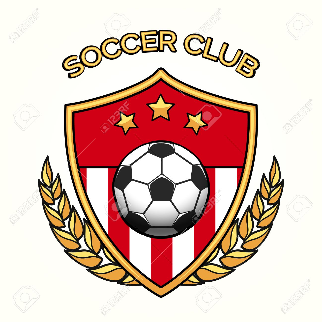 Vector soccer club emblem or football sports team logo isolated on white background - 62625349