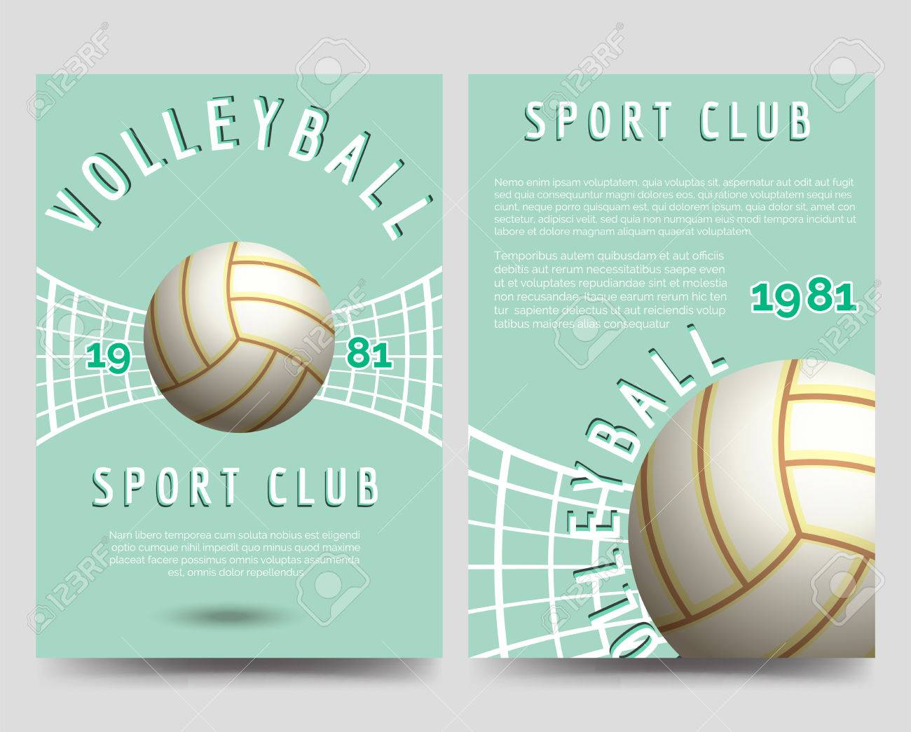 volleyball tournament flyer template free