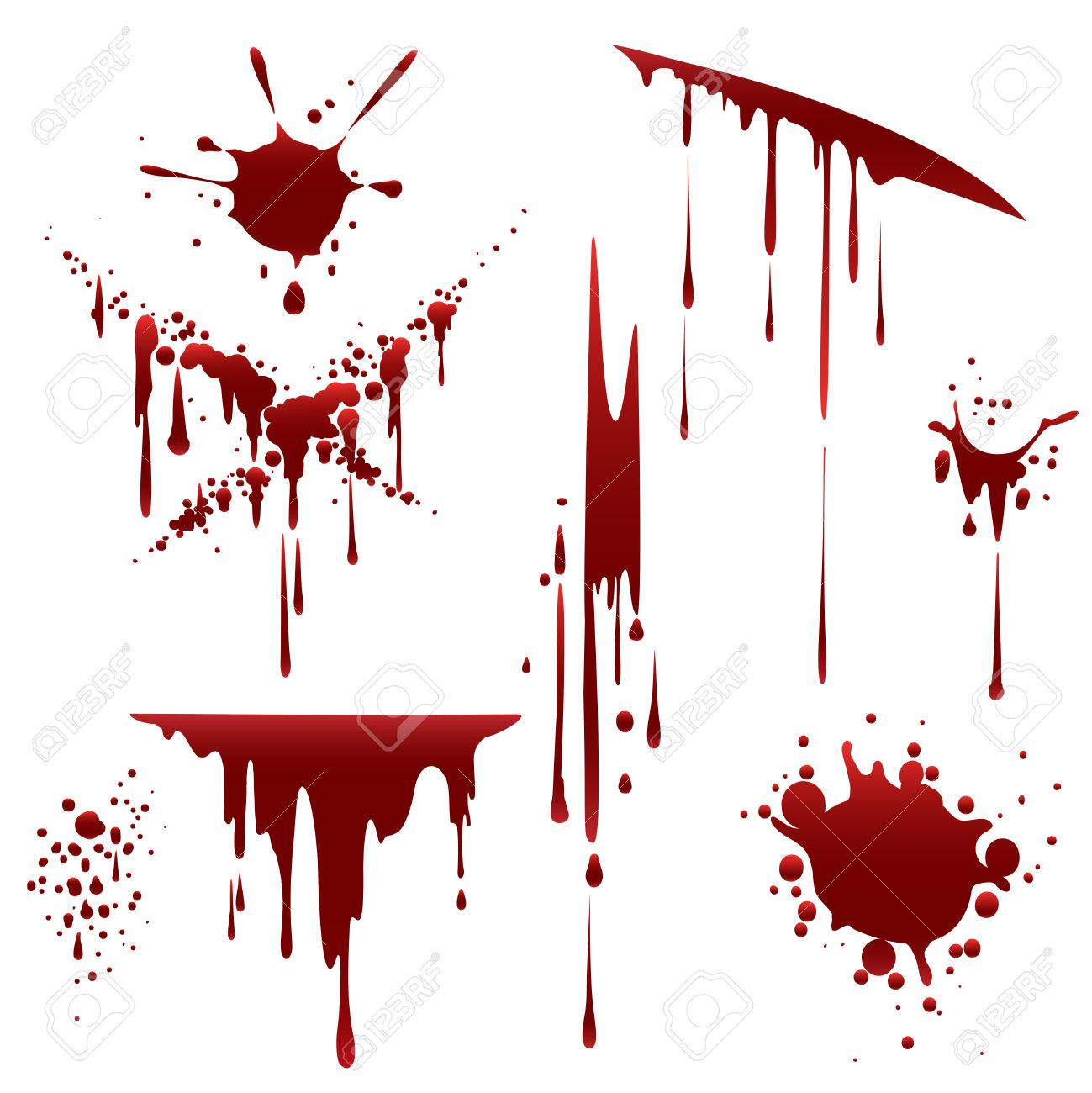 bloody horror scruffy splatter blood drops splashes and clots rh 123rf com blood splatter vector free download blood splatter vector images