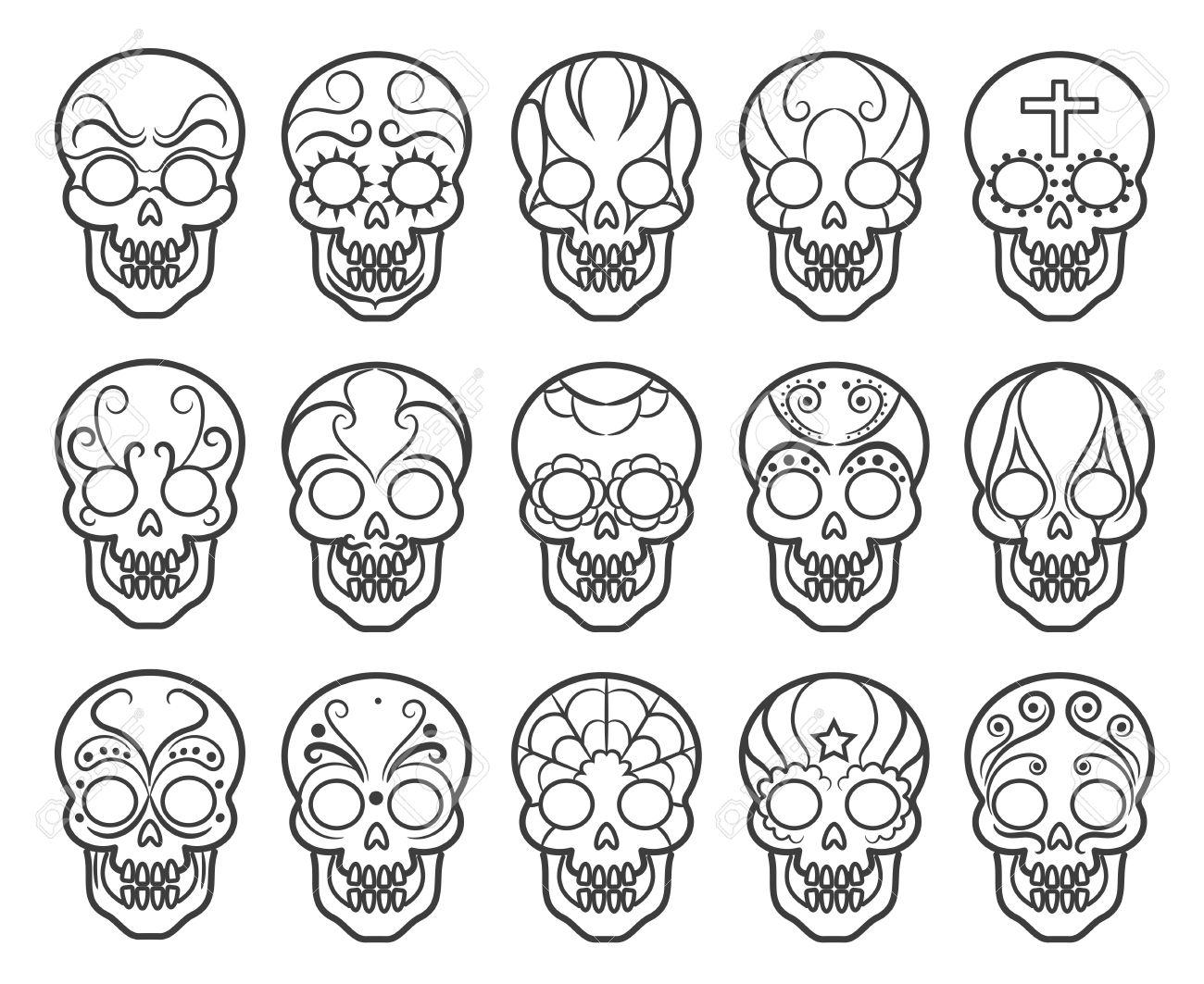 Großzügig Tag Der Toten Schädel Malvorlagen Fotos - Druckbare ...