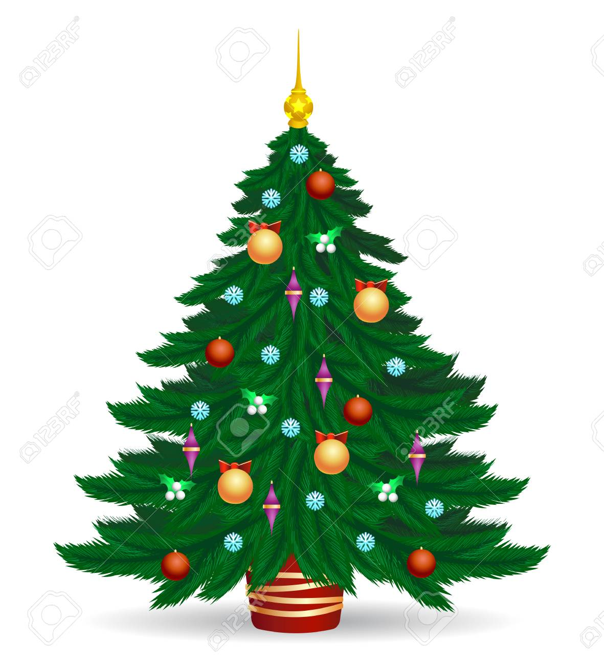 Christmas Tree Vector Image.Stock Illustration