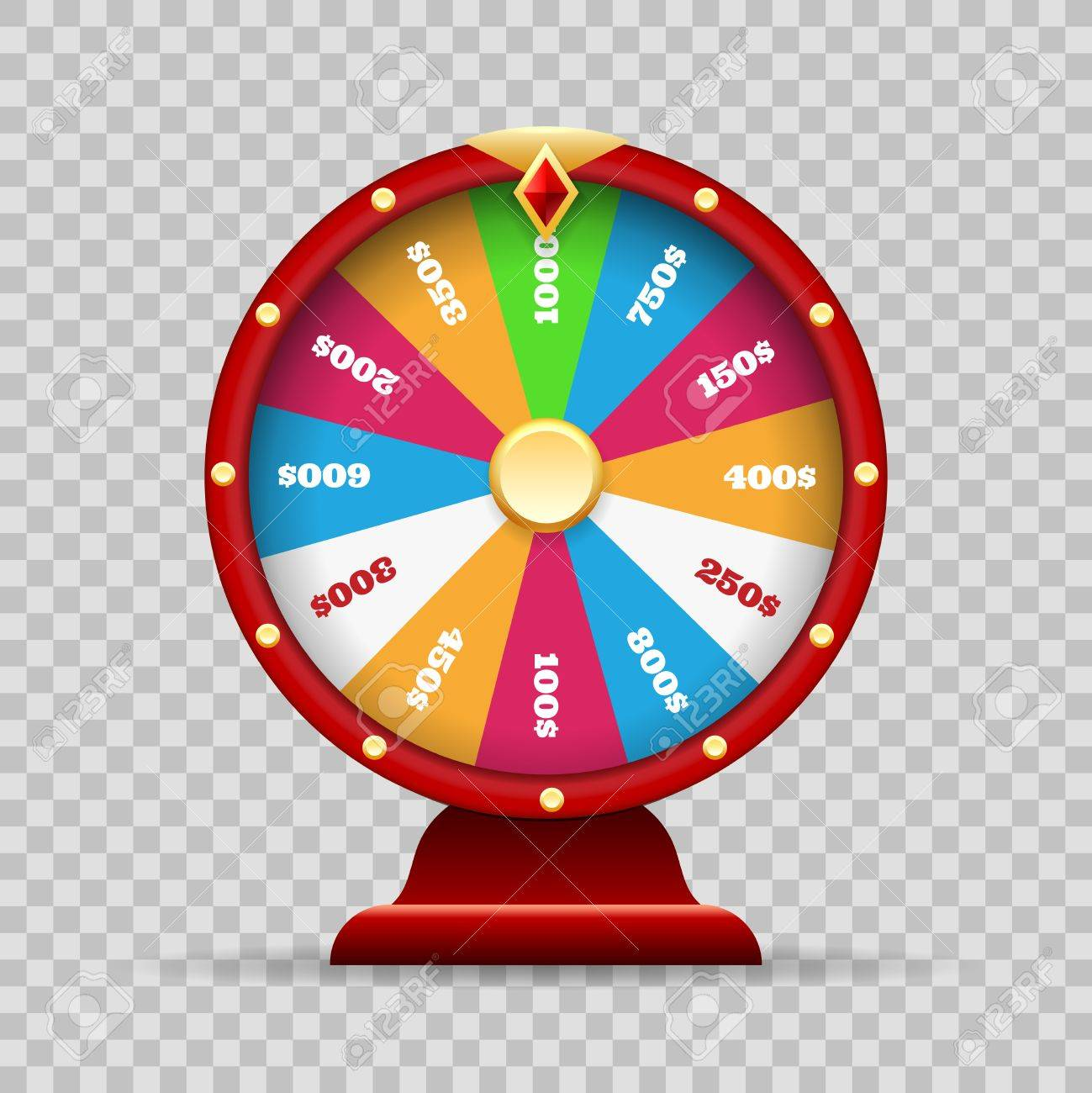 Luck Wheel Of Fortune Or Lottery Spinning Game On Transparency Royalty Free Cliparts Vectors And Stock Illustration Image 84439119