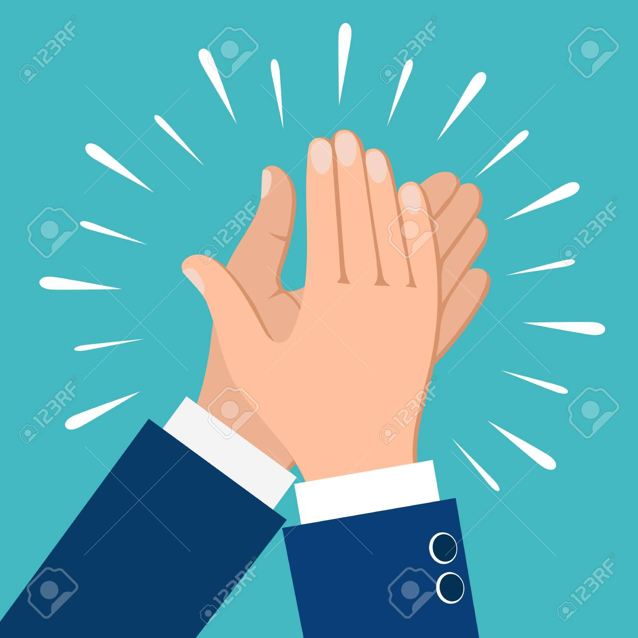 Clapping Hands. Business People Applauding Hands Clap Vector.. Royalty Free  Cliparts, Vectors, And Stock Illustration. Image 98464882.
