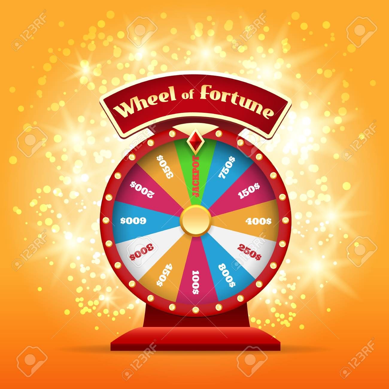 Spinning Wheel Or Game Wheel Turning Wheel Of Luck Or Lucky Royalty Free Cliparts Vectors And Stock Illustration Image 99539597