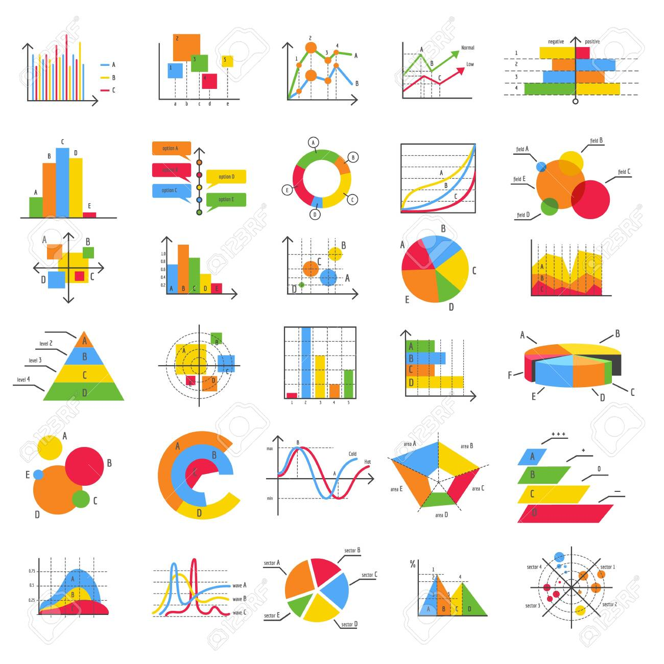 Finance Business Flat Diagram Chart Graph Vector Icons Bars Royalty Free Cliparts Vectors And Stock Illustration Image 140991878