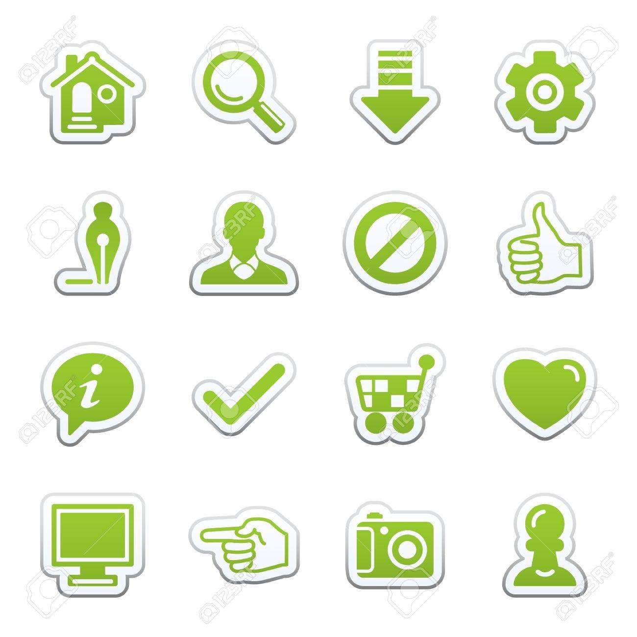 Basic web icons. Stock Vector - 9340372