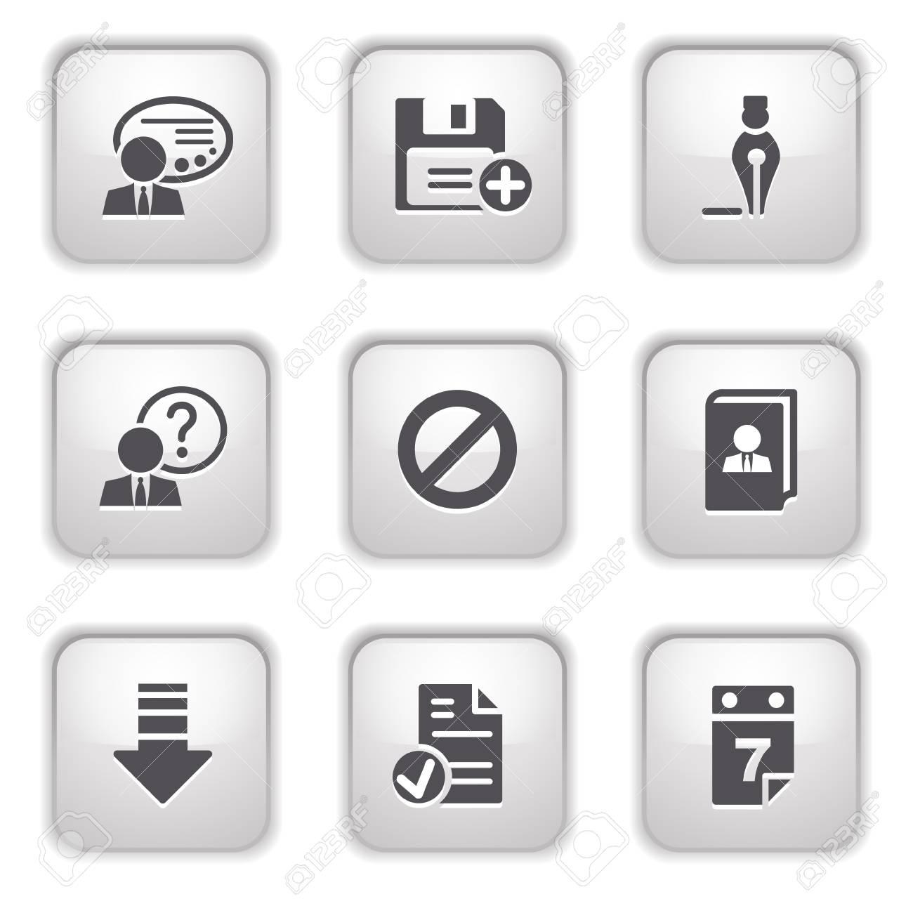 Gray button for internet 2 Stock Vector - 9393524