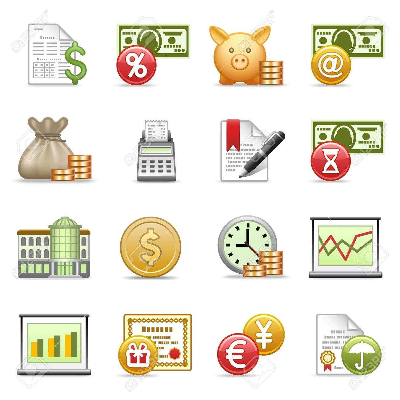 Finance icons. Stock Vector - 9679183