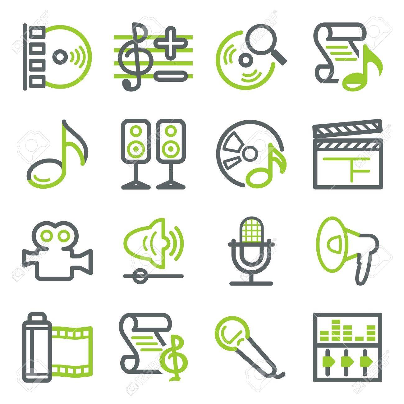 Audio video web icons Stock Vector - 10342841