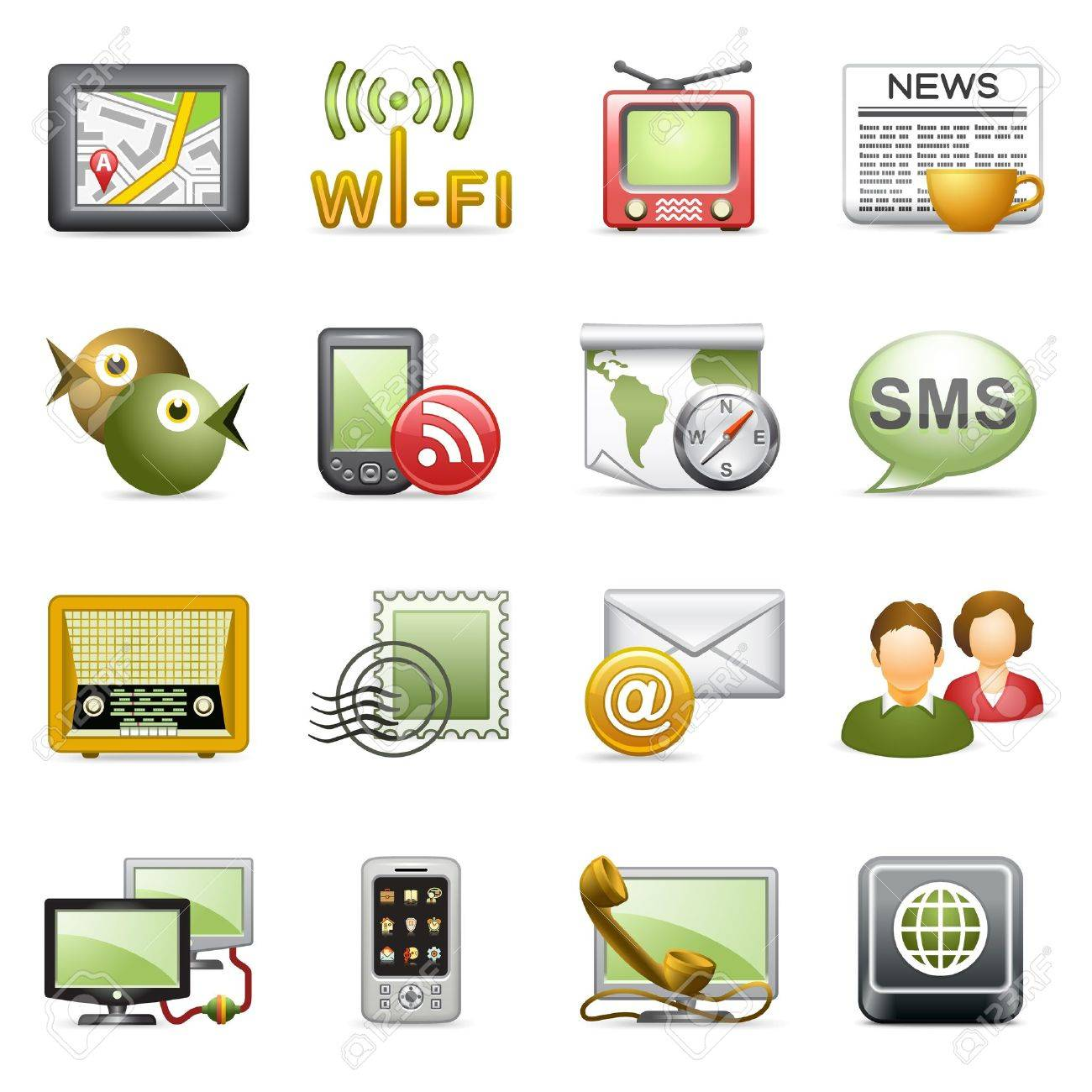 Communication icons. Stock Vector - 10613365