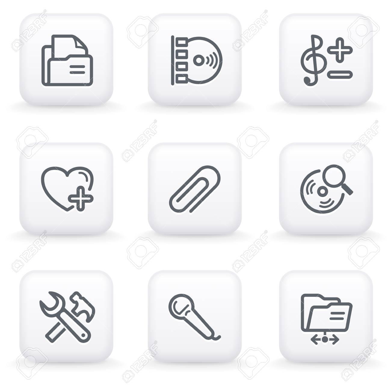 White button for web 11 Stock Vector - 10662945