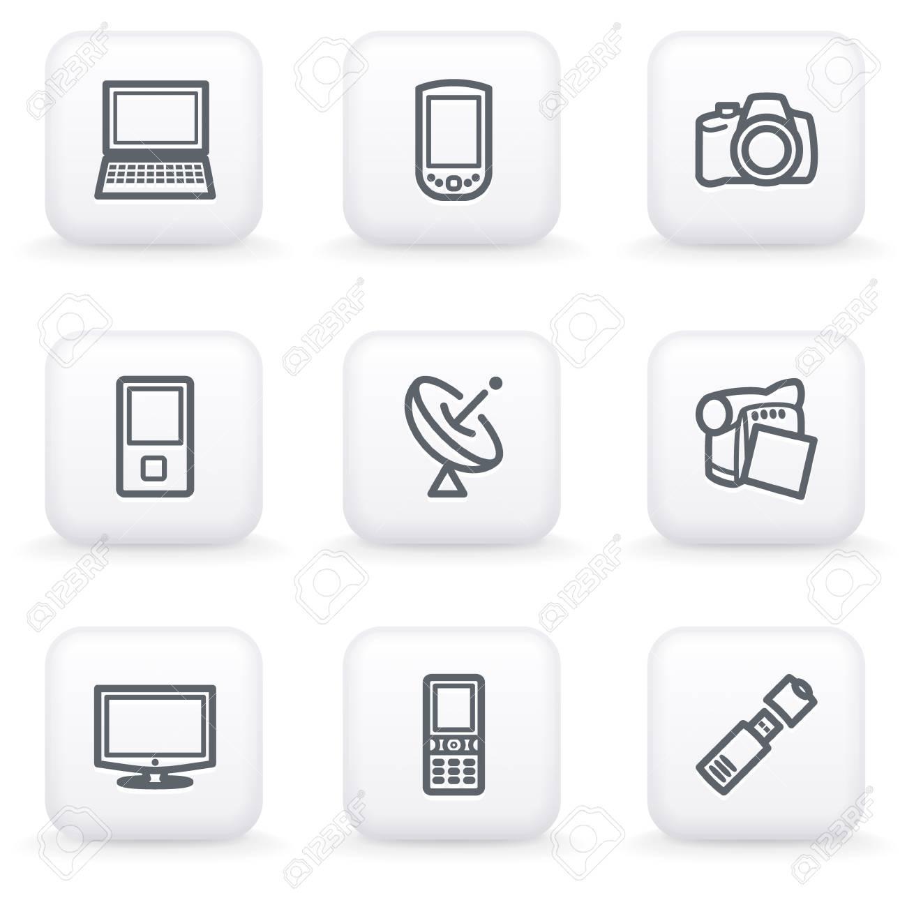 White button for web 16 Stock Vector - 10662951