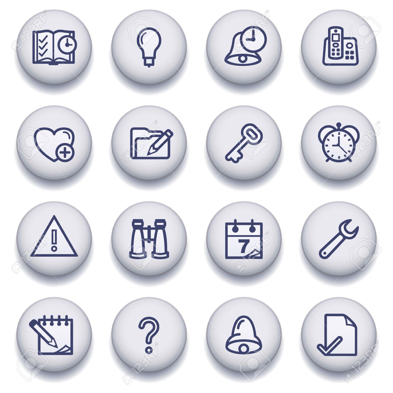 icons set for websites, guides, booklets. Stock Vector - 13835964
