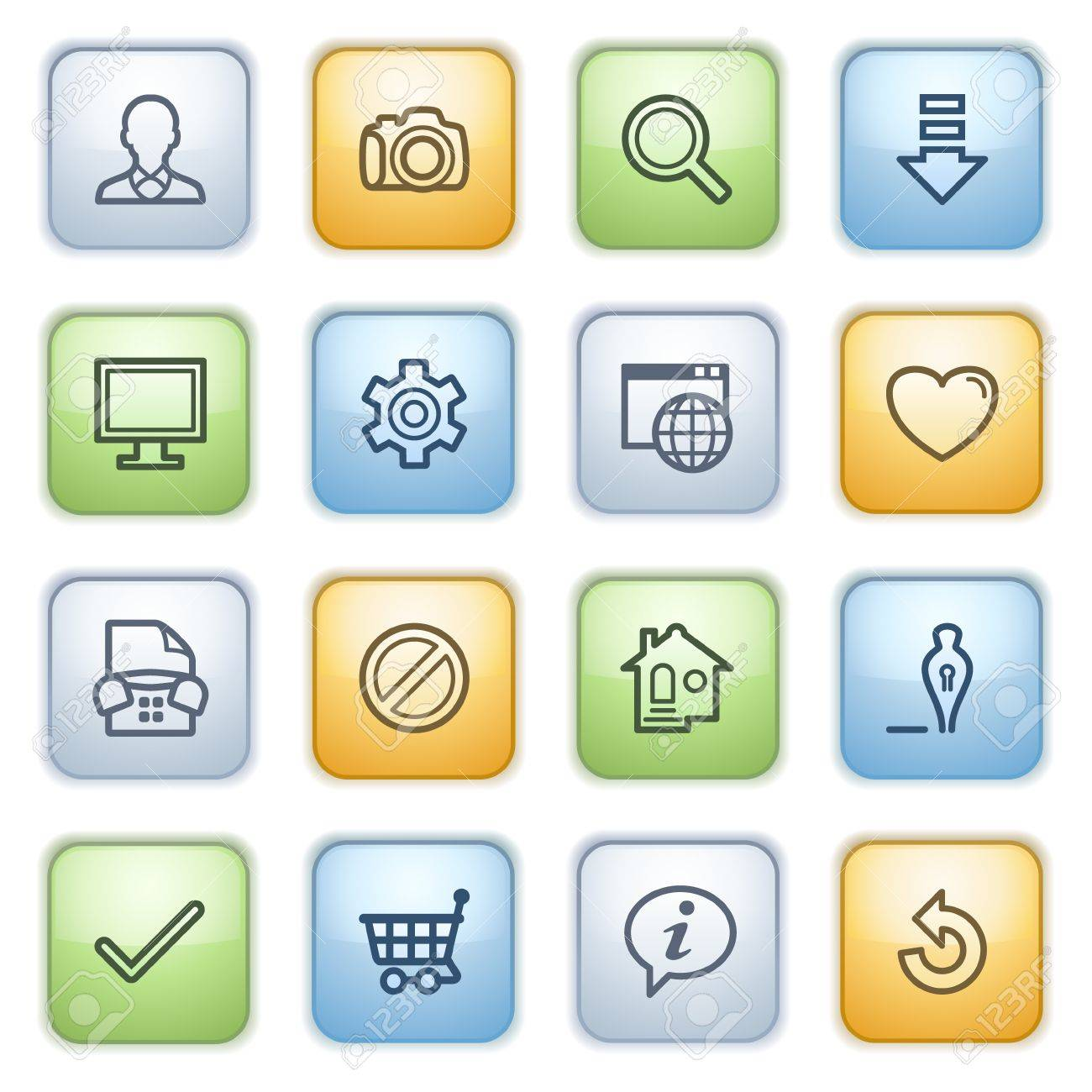 Icons set for websites, guides, booklets. Stock Vector - 13870664