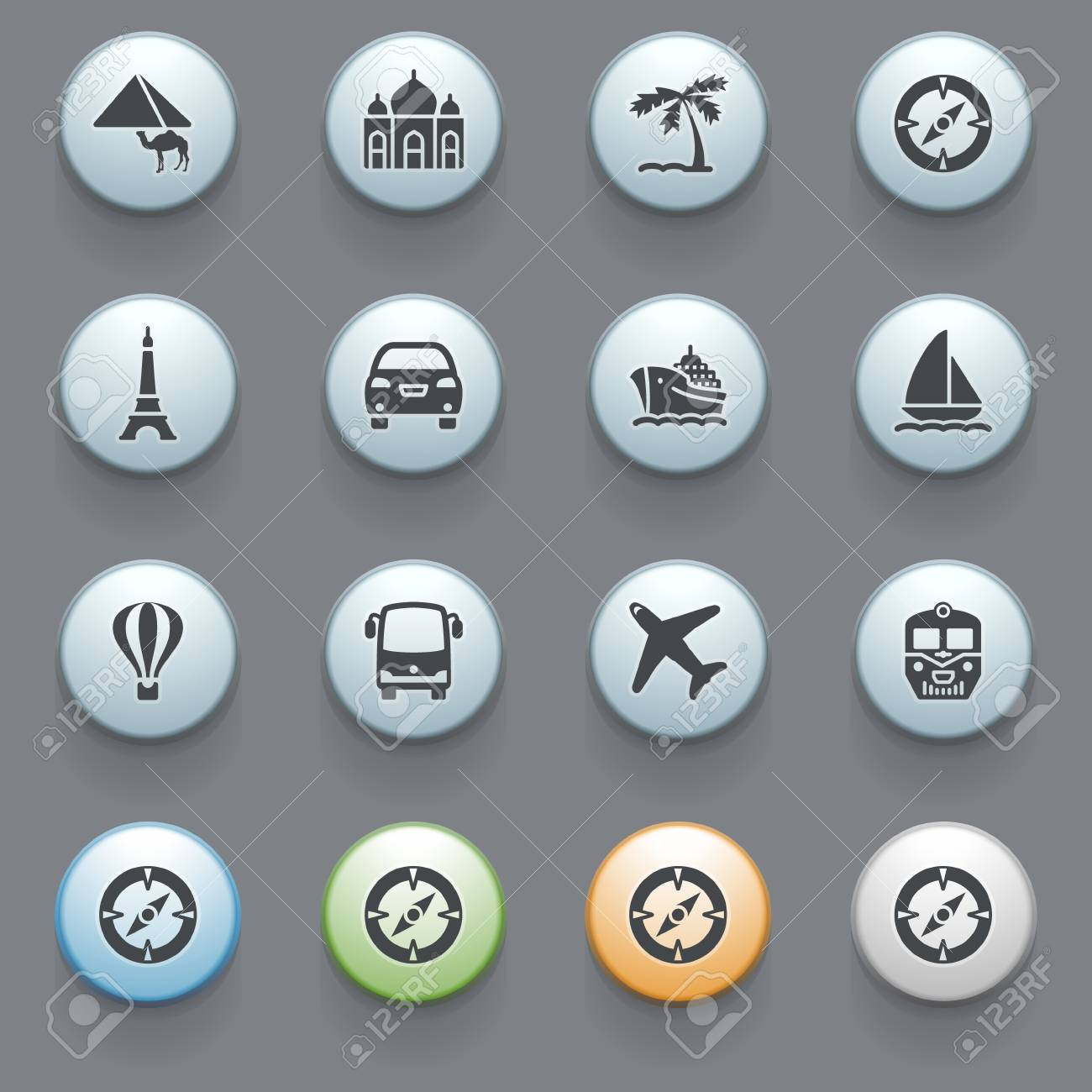 Internet icons for web site Stock Vector - 16366725