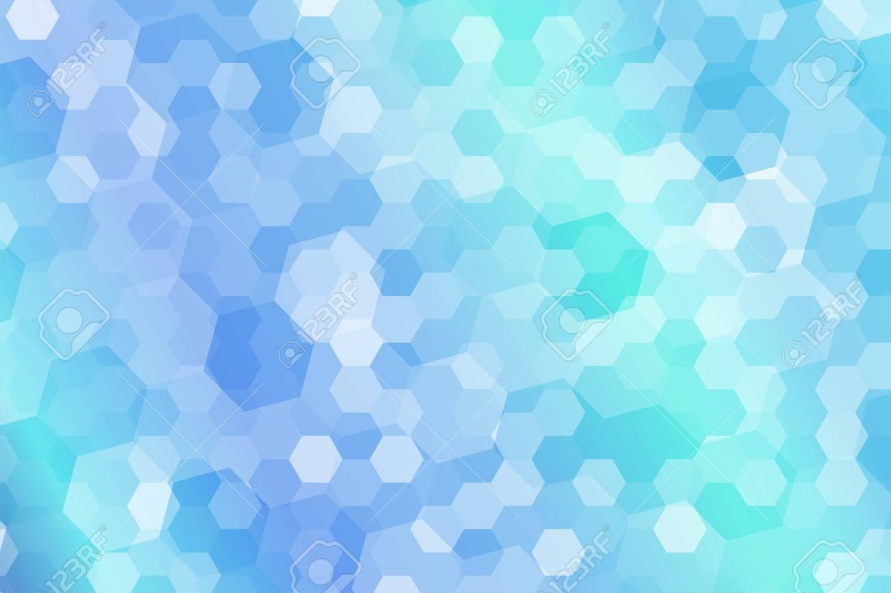 Resumen De Forma De Hexágono Con Fondo De Sombreado Degradado Azul