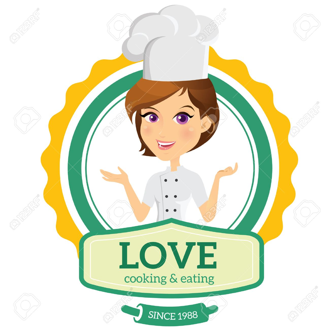 love cooking logo chef logo royalty free cliparts vectors and