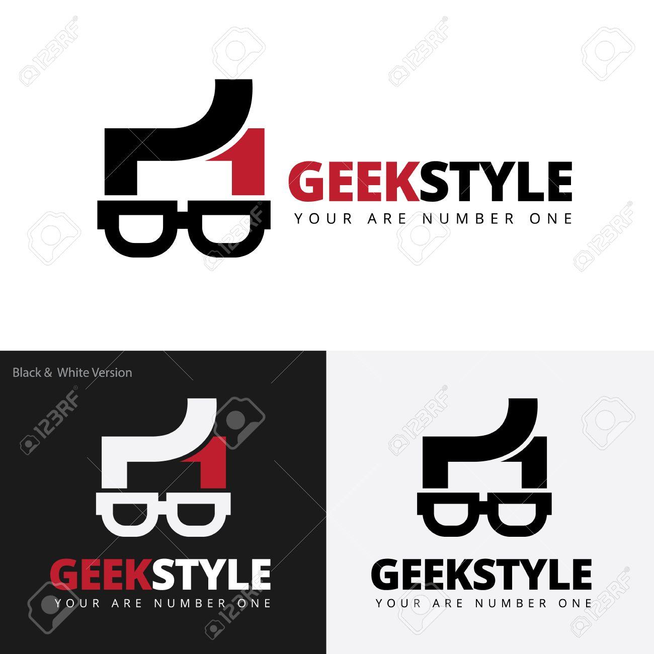 geek style logo geek logo vector logo template royalty free cliparts