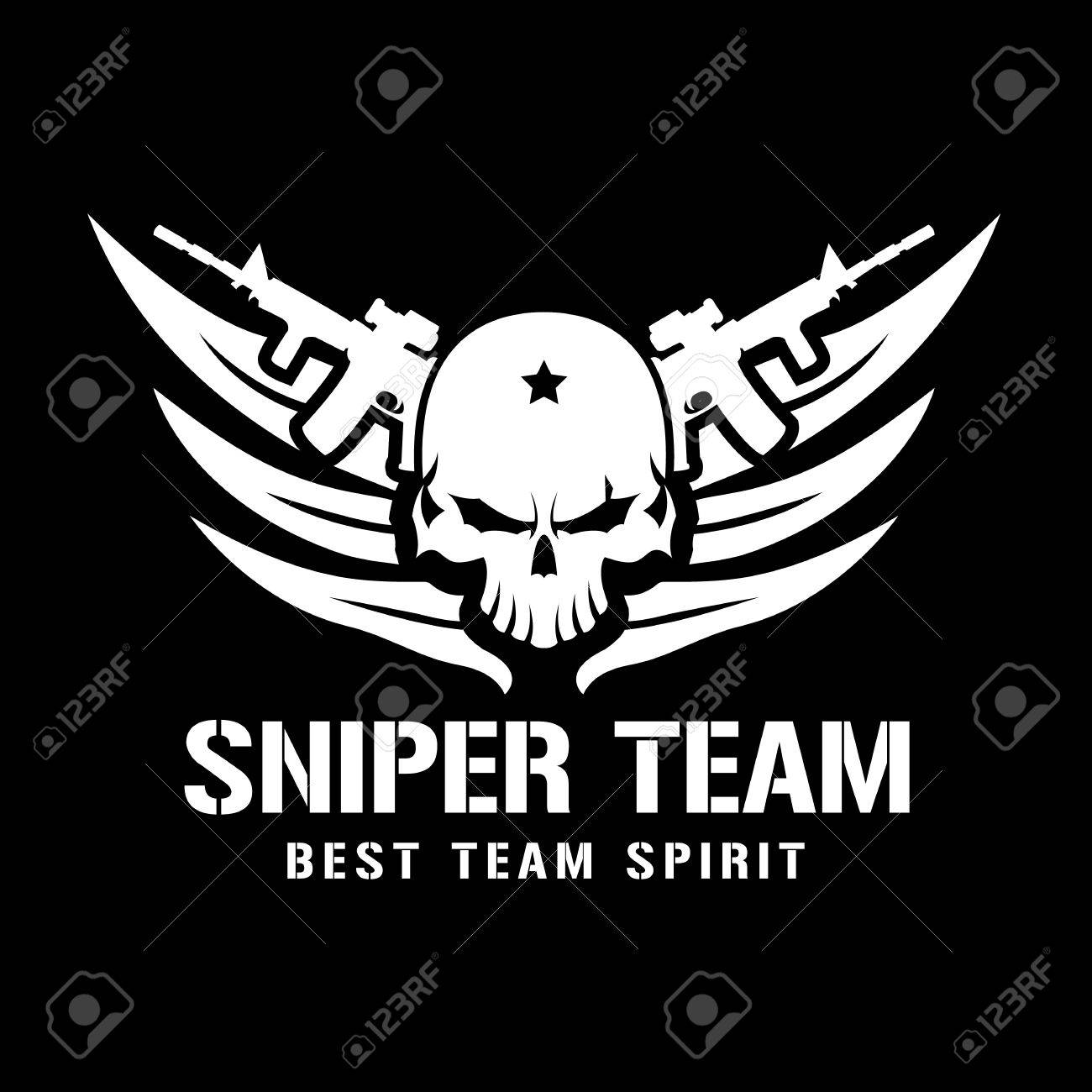 Siper Team Logo Warrior Skull Logo Tattoo Vector Vector Logo Royalty Free Cliparts Vectors And Stock Illustration Image 52596799