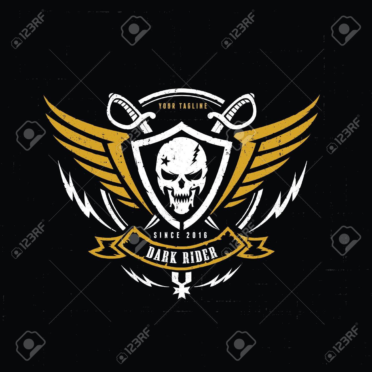 crest logo victory logo skull logo tattoo vector vector logo