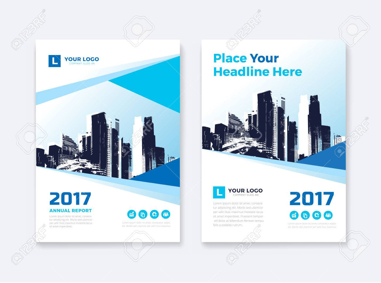 business book cover design template in a4 easy to adapt to brochure annual report