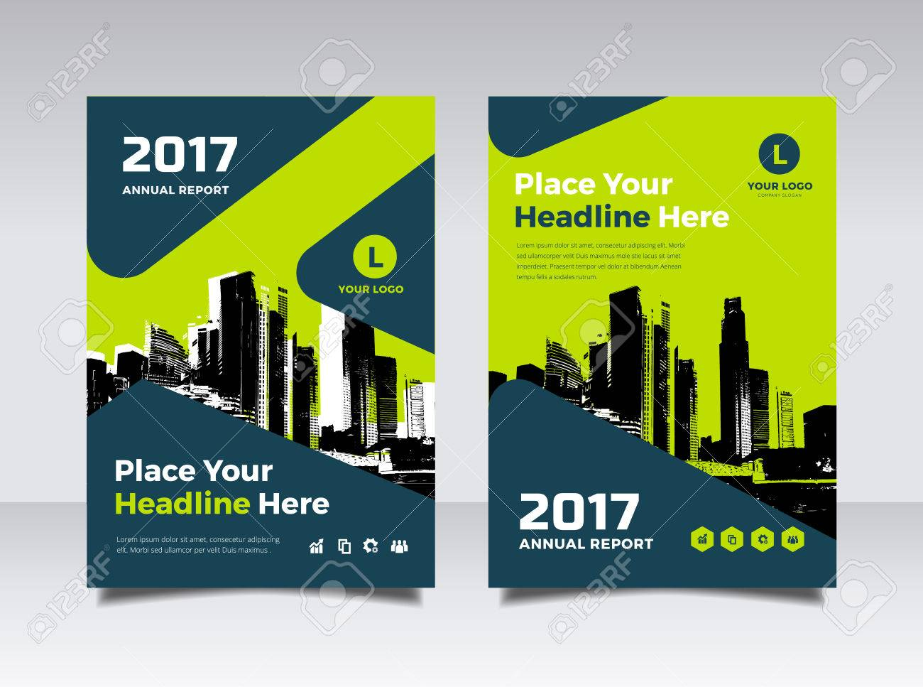business book cover design template in a4 easy to adapt to brochure