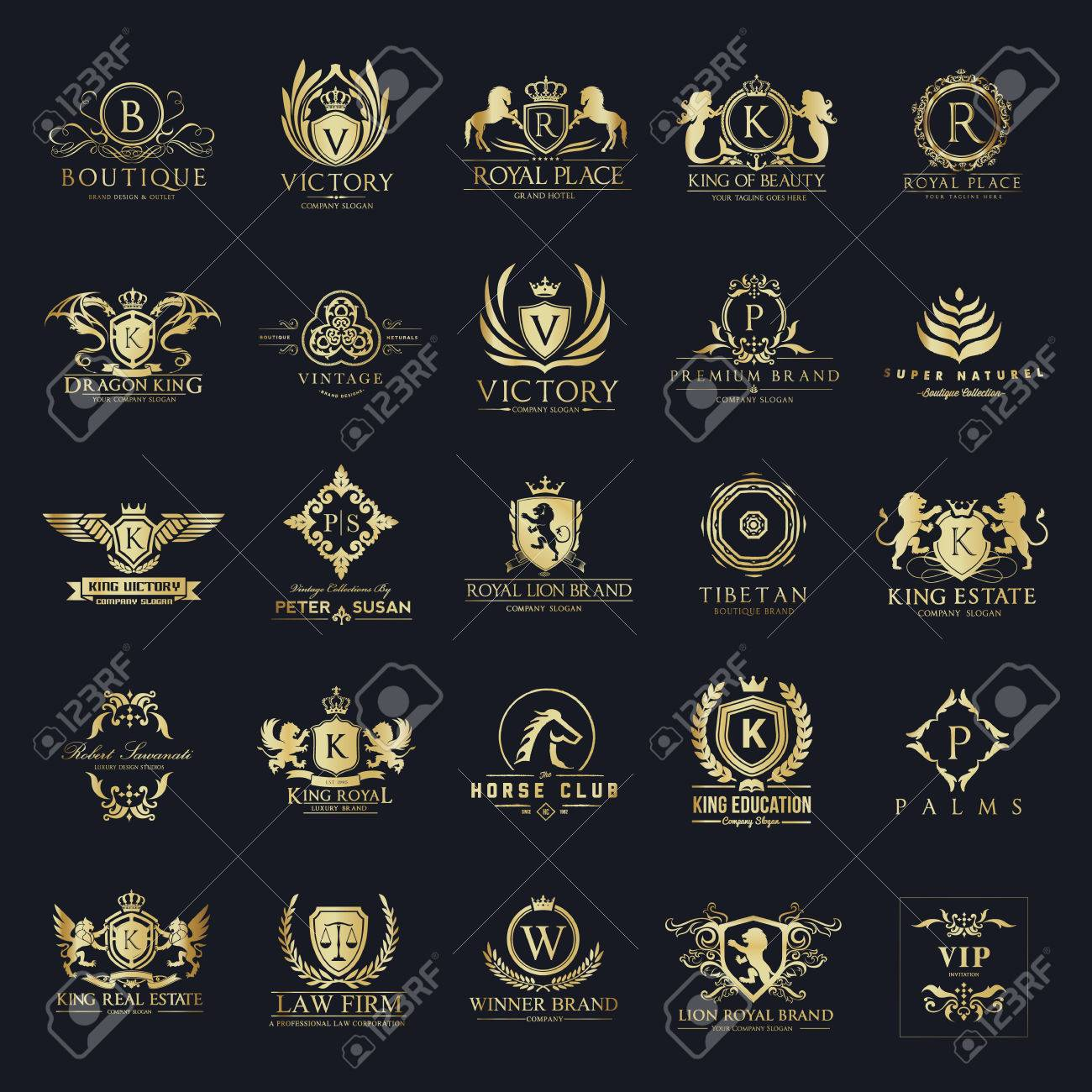 Luxury crests and Hotel logo collection - 77647841