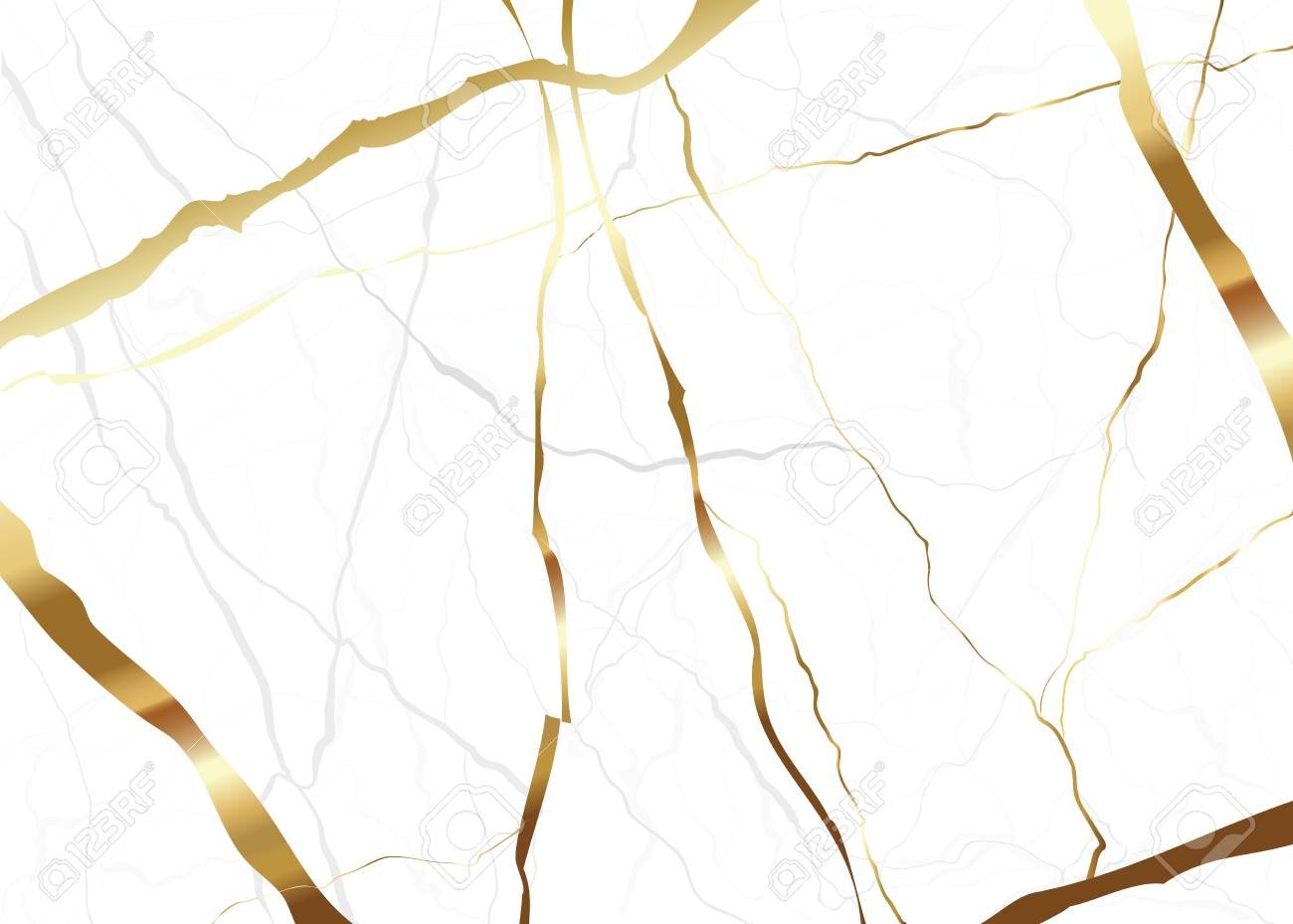 Gold marble background texture Vector for wedding card and book cover. - 105481675