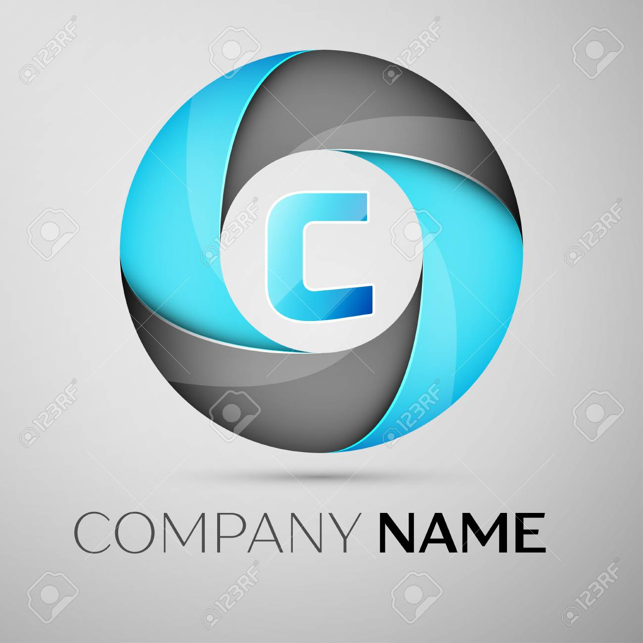 Letter C Vector Logo Symbol In The Colorful Circle Vector Template