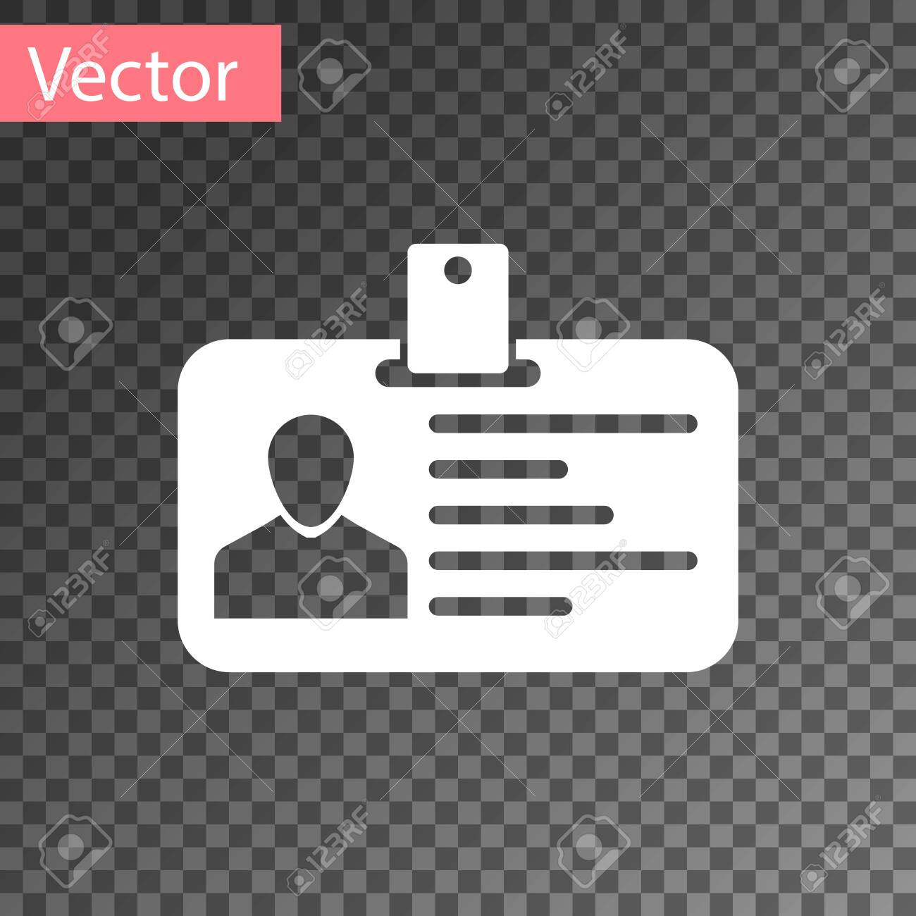 white identification badge icon isolated on transparent background royalty free cliparts vectors and stock illustration image 123870153 white identification badge icon isolated on transparent background