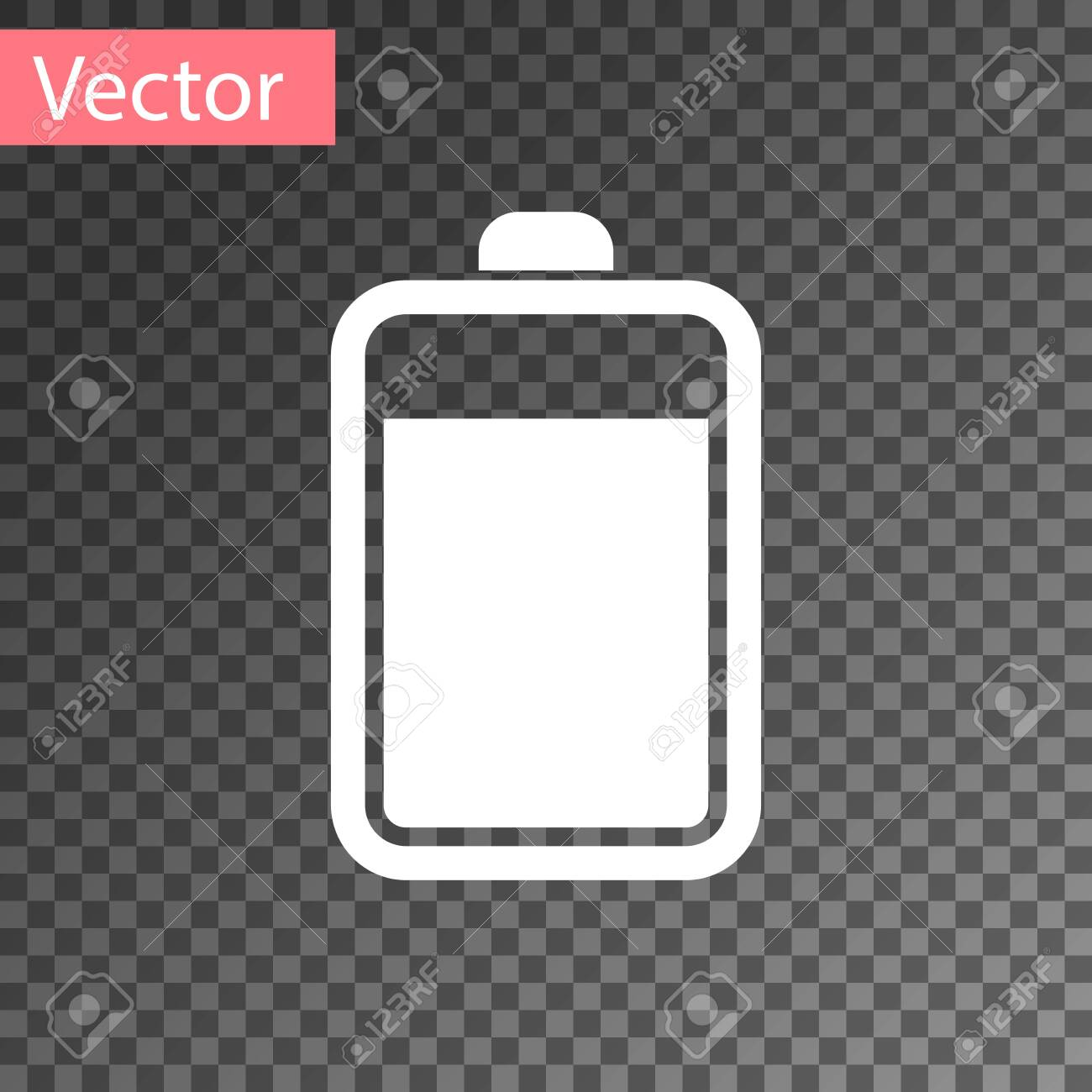 white battery icon isolated on transparent background vector royalty free cliparts vectors and stock illustration image 123870170 white battery icon isolated on transparent background vector