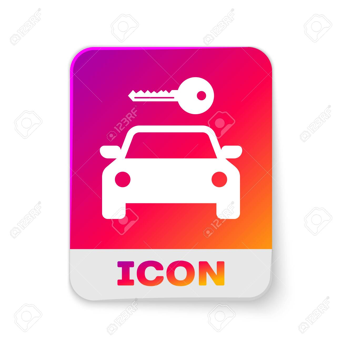 White Car Rental Icon Isolated On White Background Rent A Car Royalty Free Cliparts Vectors And Stock Illustration Image 125912301