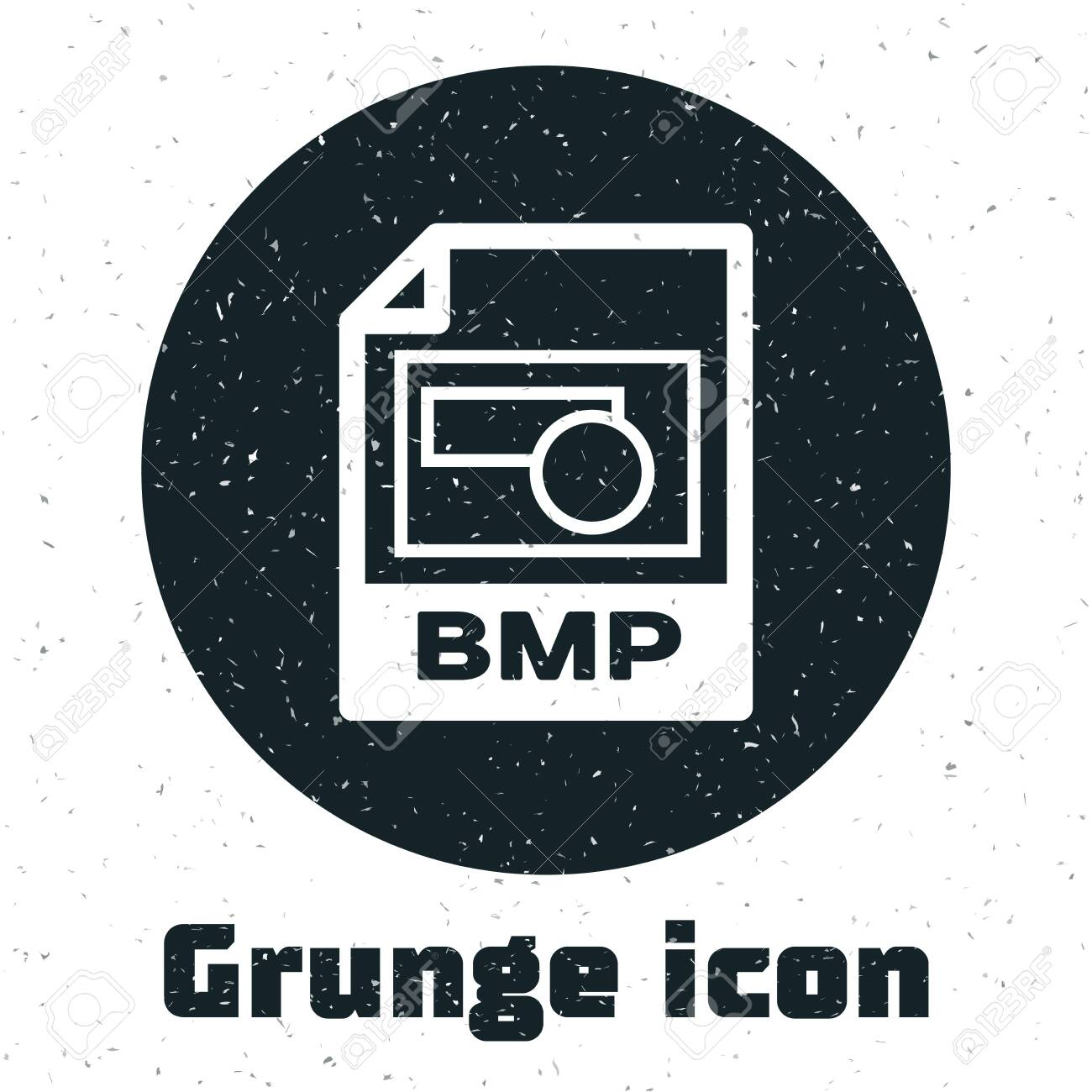 Grunge BMP file document  Download bmp button icon isolated on