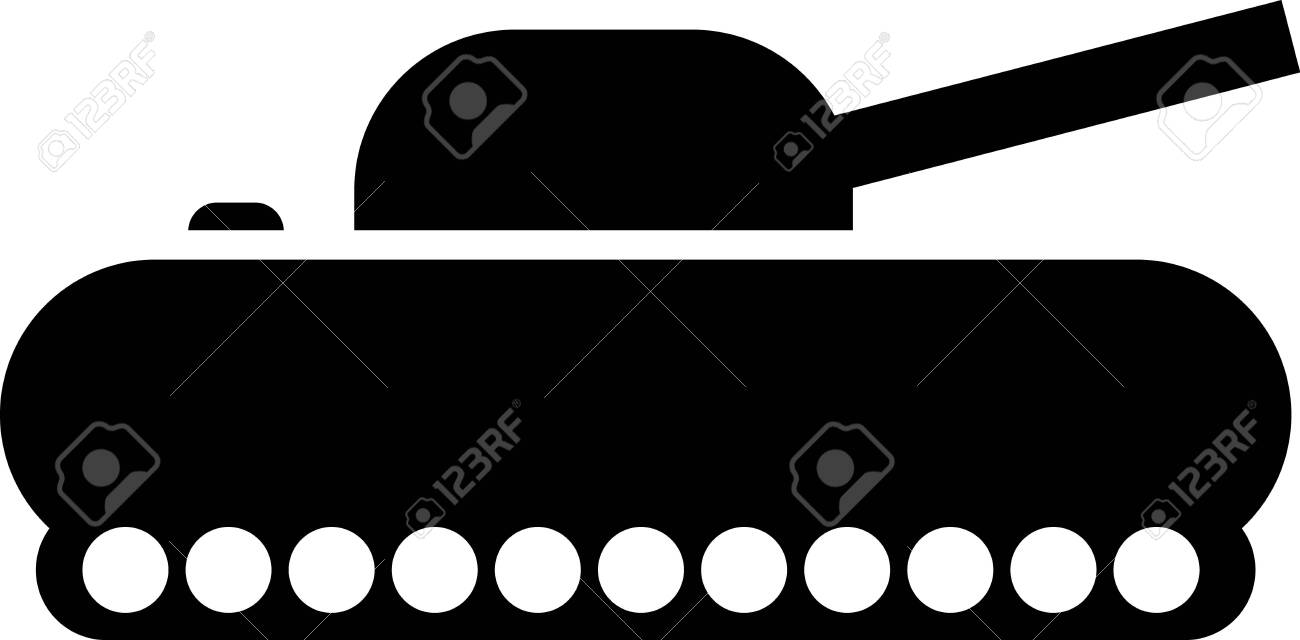 black military tank icon isolated on white background vector royalty free cliparts vectors and stock illustration image 133407607 123rf com
