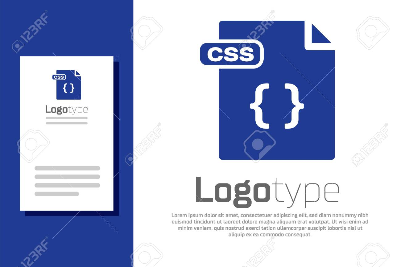 Blue Css File Document Download Css Button Icon Isolated On Royalty Free Cliparts Vectors And Stock Illustration Image 137431733