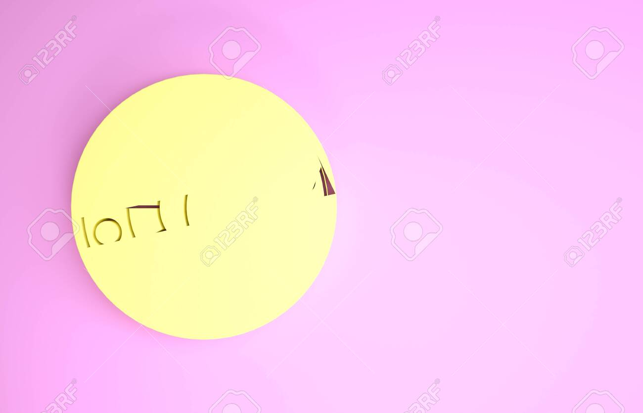 Yellow Astrology Horoscope Circle With Zodiac Icon Isolated On Stock Photo Picture And Royalty Free Image Image 136082443