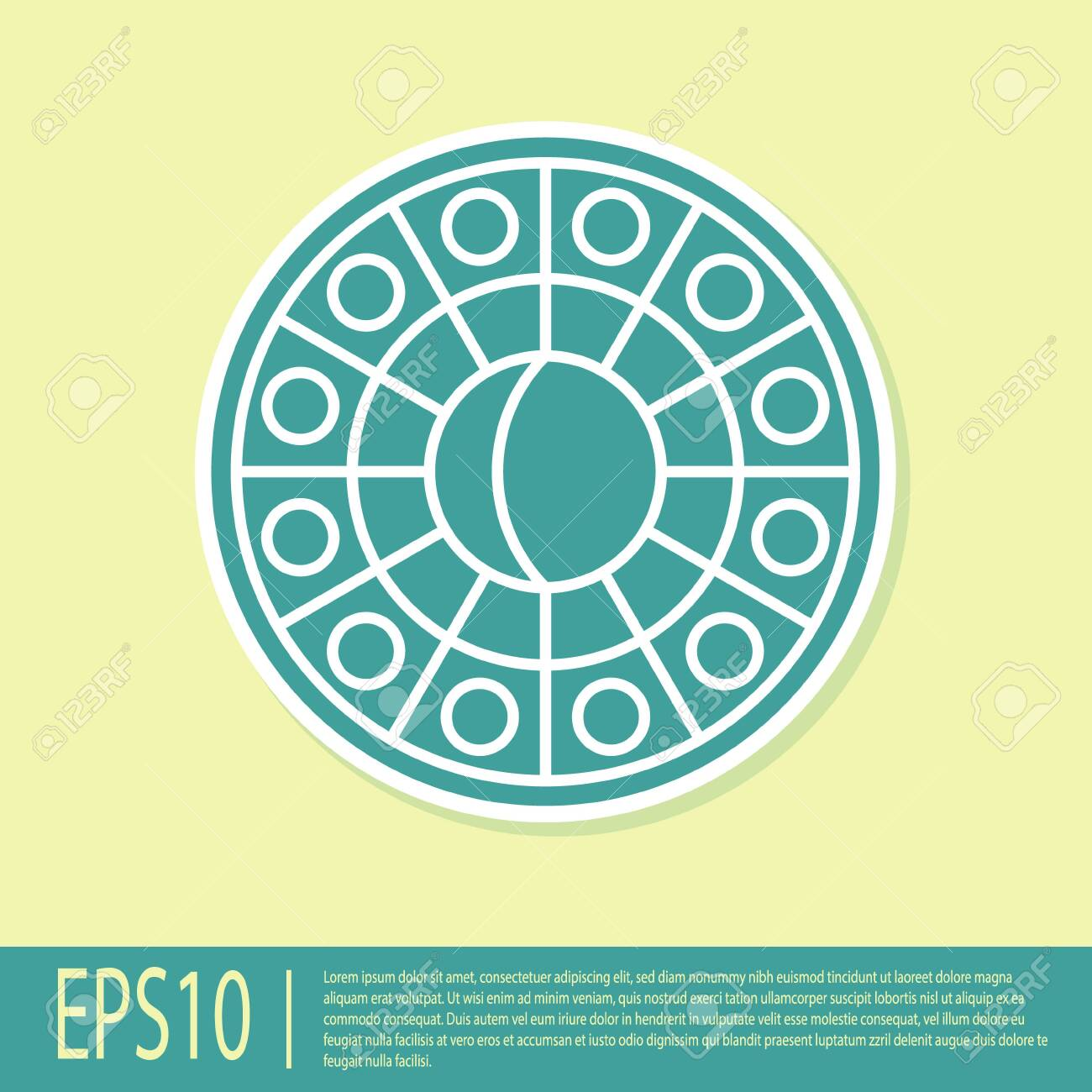 Green Astrology Horoscope Circle With Zodiac Icon Isolated On Royalty Free Cliparts Vectors And Stock Illustration Image 138334591